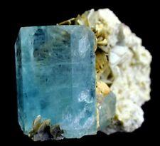 413 Gm DT Gem Grade & Natural Light Blue Aquamarine Crystal on It's Matrix @Naga