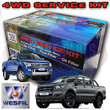 WESFIL 4WD AIR OIL FUEL FILTER SERVICE KIT FOR FORD RANGER PX 3.2L P5AT 2011-On