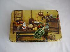 Vintage Biscuit tin Massilly France kitchen fruit vegies collectable Kitsch