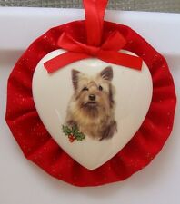 Yorkshire Terrier/Yorkie Dog Christmas Ornament, Heart Shaped