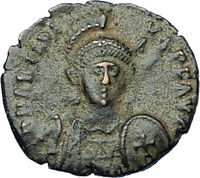 ARCADIUS with CROSS Original 401AD Antioch Authentic Ancient Roman Coin i65831