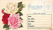 Wood River Nebraska~Wood River Nursery Co~Free Rose Bush~1910 Postcard