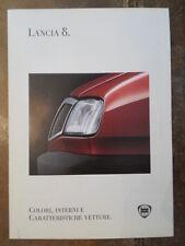 LANCIA DELTA GAMMA ORIG 1994 ITALIANO MKT COLORI E FINITURE BROCHURE ITALIA-ITALIA