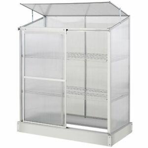 Mini Greenhouse Cold Frame Clear Garden Grow Box Plant Pot Shelves Durable Steel