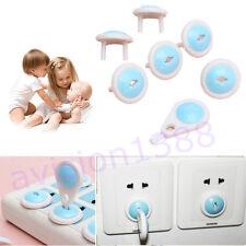 6pcs Electric Socket Outlet Plug Safety Safe Lock Cover for Baby Kids AV