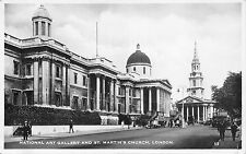 BR65005 national art gallery and st martin s church london real photo uk