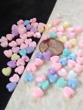 beads Hearts heart plastic bead baby Babies Shower Favors Scrapbook cards 6mm