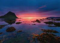 A1 | Art Poster Of Beautiful Sunset Coastal 60 x 90cm 180gsm Natural Gift#14294