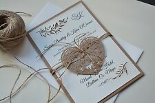 Personalised Laser cut Rustic Wedding Invitation with free postage