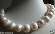 """huge 12-13mm white baroque freshwater pearl necklace 20"""""""