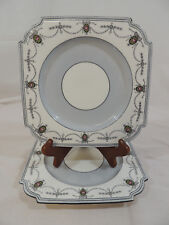 Marshall Field Anysley England Square Lot of 2 Salad Plates Porcelain