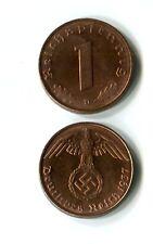 1 Reichspfennig Drittes Reich 1937 D Top Erhaltung KI1563