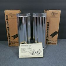 Two Pampered Chef Valtrompia Bread Tubes Pans Star and Scalloped Canape Party