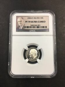 NGC 2004 S PF 70 Silver Ultra Cameo Dime NO RESERVE!! CLEAN!