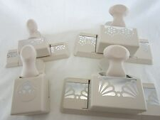 Lot of 4 Martha Stewart Crafts Border Paper Punch Punches Scrapbook