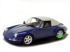 PORSCHE 911 (993) Cabrio Soft Top 1994-1998 Blu Metallizzato/Minichamps 1:43