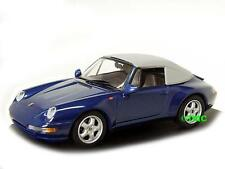 Porsche 911 (993) Cabrio Soft Top  1994-1998  blau metallic  / Minichamps  1:43