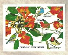 1989 GAMBIA BIRDS OF SOUTH AFRICA SOUVENIR STAMP SHEET MNH