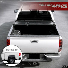 For 2014-2018 Chevy Silverado/GMC Sierra 5.8 Ft Bed Tri-Fold Soft Tonneau Cover