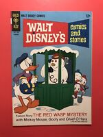 WALT DISNEY'S COMICS AND STORIES #5 Red Wasp Mystery Gold Key 1967 Very Fine+