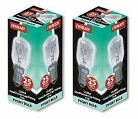 25w Watt Pygmy Bulbs SES E14 Appliance Fridge Microwave Oven Screw in Bulbs x 2