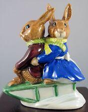 "Royal Doulton Bunnykins Figurine - ""Sleigh Ride"" - Db4"