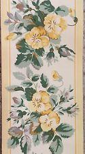 "Laura Ashley HOME Wall Border Louise Cowslip Wallpaper 4 1/4"" X 10.9 Yards Rare"