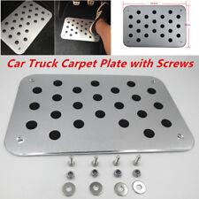 Universal Aluminum Truck Car Floor Mat Carpet Heel Plate Foot Pedal Rest Silver