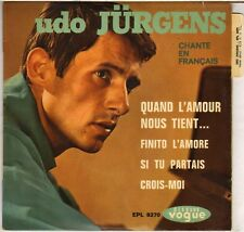 """UDO JURGENS """"QUAND L'AMOUR NOUS TIENT"""" 60'S EP VOGUE 18270"""
