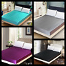 1PC ELEGANT SATIN SILKY SOLID SOFT BED DRESSING COVER FITTED SHEET IN ALL SIZES