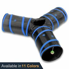 Pet Agility Tunnel Training Outdoor Runner Equipment Exercise Puppy Open 3 Way