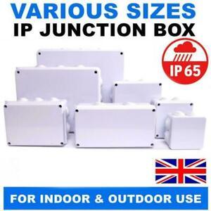 IP65 WATERPROOF JUNCTION BOX ENCLOSURE ADAPTABLE PVC PLASTIC GREY CCTV ELECTRIC