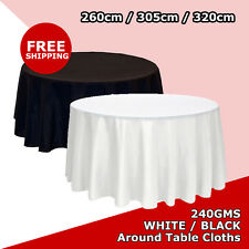 Round Tablecloths Black White Wedding Event Party Function Hotal Table Cloth
