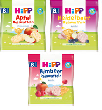 german HiPP Organic Rice Cakes for babies Blueberry, Apple and Raspberry  New
