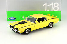 Mercury Cougar Eliminator Year 1970 yellow 1:18 Welly