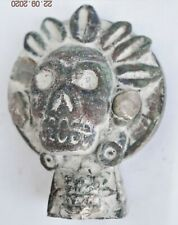 "Sale! Pre Columbian Mayan Crypt Stone skull Figure, 4"" Prov"