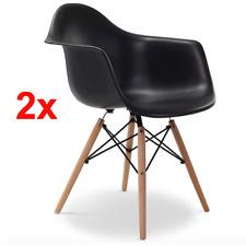 2er Stühle Esstischstuhl Stuhl Esszimmerstuhl Bürostuhl Küchenstuhl Holz Schwarz