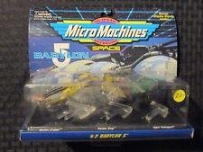 1994 Galoob BABYLON 5 Micro Machines #2 MOC C-6.5 Cruiser Raider & Transport