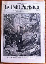 Le petit Parisien illustré 10/09/1899;  Attaquée par un sangliers