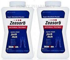 Zeasorb Absorbant Antifungal Powder for Jock Itch, etc 2.5 Oz ( 2 pack )( RED )