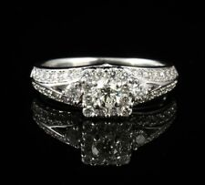 KAY'S ROUND NATURAL 1.0ctw DIAMOND HALO SOLID 14K WHITE GOLD ENGAGEMENT RING