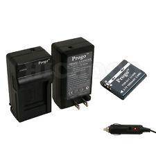 Progo Li-90b Battery + Charger Kit For Olympus XZ-2, SH-50, Tough TG-1 , TG-2