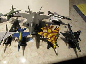 Lot 14 US Air Force Navy Marines Diecast Metal Military Fighter Jets Planes