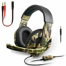 Gaming Headset 3.5mm Kopfhörer mit Mikrofon für PC Laptop PS4 Xbox One Switch DE