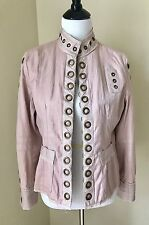 Vintage dusty rose pink Luii military steampunk style jacket Two-toned  Size M
