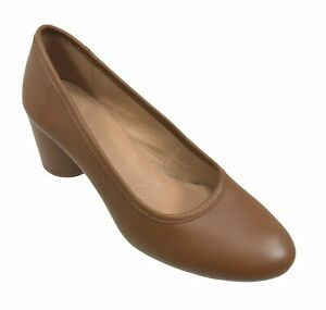 MADEWELL The Reid Brown Leather Heels Pumps Shoes Size 7.5