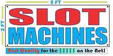 SLOT MACHINES Banner Sign NEW 2X5