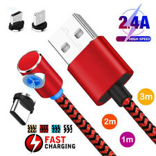 90° Magnetic Cable Fast Charger USB Cable L-Line Magnet Charger Right Angle