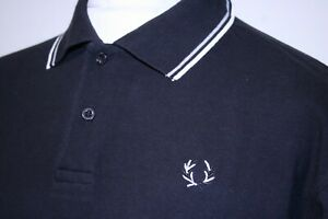 Fred Perry x The Specials Twin Tipped Polo Shirt - XL - Black - Rare Mod Ska Top