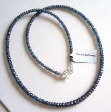 Blau grüne Saphir Kette - 48 cm - 70 Karat - Rarität - Australien - Schloss 925